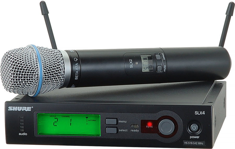 View larger image of Shure SLX24/BETA87A Handheld Wireless Microphone System
