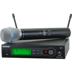 Shure SLX24/BETA87A Handheld Wireless Microphone System