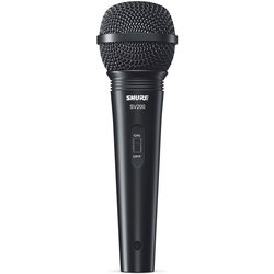 Shure SV200-W Cardioid Vocal Microphone with On/Off Switch