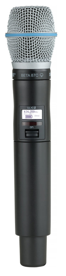 View larger image of Shure ULXD2/B87C Handheld Wireless Microphone Transmitter - X52