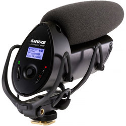 Shure VP83F LensHopper Camera Mount Condenser Microphone with Integrated Flash Recording