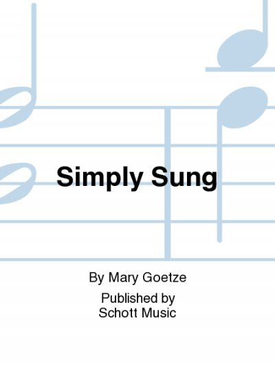 View larger image of Simply Sung (Orff)