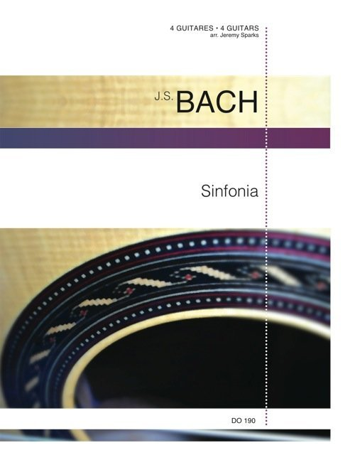 View larger image of Sinfonia, (Bach) - Guitar Quartet