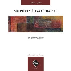 Six Pieces Elisabethaines (Varies) - Guitar Duet