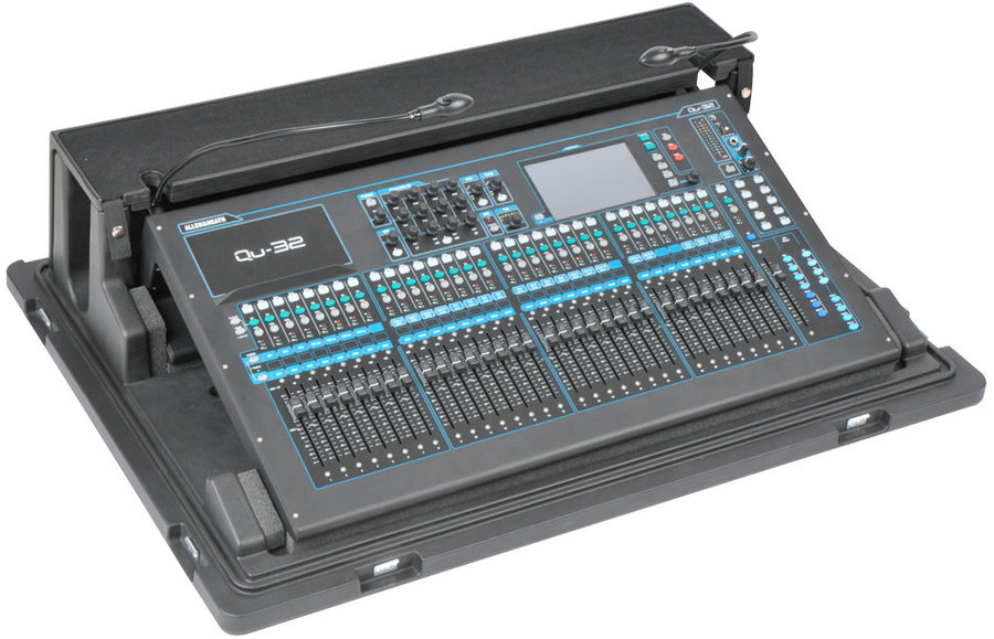 View larger image of SKB Roto-molded Allen & Heath QU32 Mixer Case with Wheels