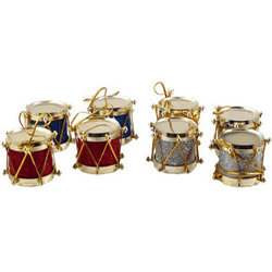 Small Drum Ornament - 8 Pack