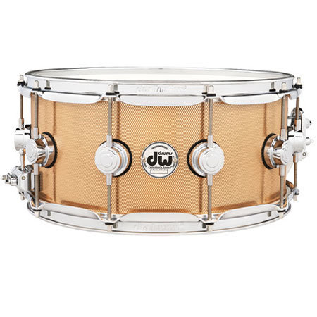 """View larger image of DW Collector's Series Knurled Bronze Snare Drum - 6-1/2""""x14"""", Bell Bronze"""