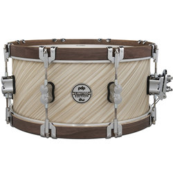"PDP Concept Maple Classic Snare Drum - 6-1/2""x14"", Natural with Walnut Hoops"