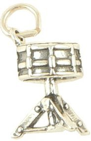 View larger image of Snare Drum Silver Charm - On Stand