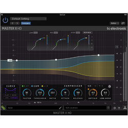 TC Electronic MASTER X HD-DT Multiband Dynamics Processor Plug-In with Dedicated Hardware Controller