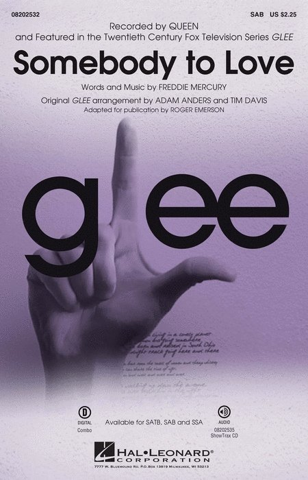 View larger image of Somebody To Love (Queen/Glee) - SAB.Parts