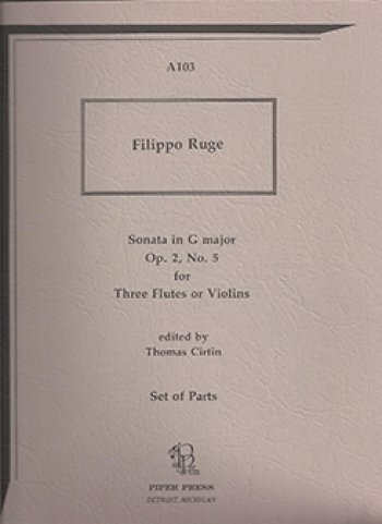 View larger image of Sonata in G Maj Op.2 No.5 - Ruge (Flute Trio)