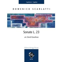 Sonate L.23 (Scarlatti) - Guitar Quartet