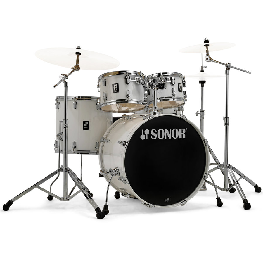 View larger image of Sonor AQ1 Stage 5-Piece Drum Set - 22/14SD/16FT/12/10, Hardware, Piano White