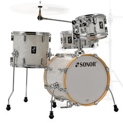 Sonor AQ2 Safari 4-Piece Shell Pack - 16/13SD/13FT/10, White Pearl