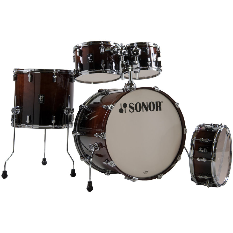 View larger image of Sonor AQ2 Stage 5-Piece Shell Pack - 22/14SD/16FT/12/10, Brown Fade
