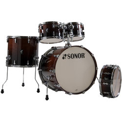 Sonor AQ2 Stage 5-Piece Shell Pack - 22/14SD/16FT/12/10, Brown Fade