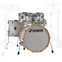 Sonor AQ2 Stage 5-Piece Shell Pack - 22/14SD/16FT/12/10, White Pearl