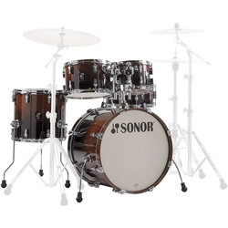 Sonor AQ2 Studio 5-Piece Shell Pack - 20/14SD/14FT/12/10, Brown Fade