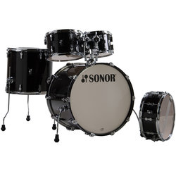 Sonor AQ2 Studio 5-Piece Shell Pack - 20/14SD/14FT/12/10, Transparent Stain Black