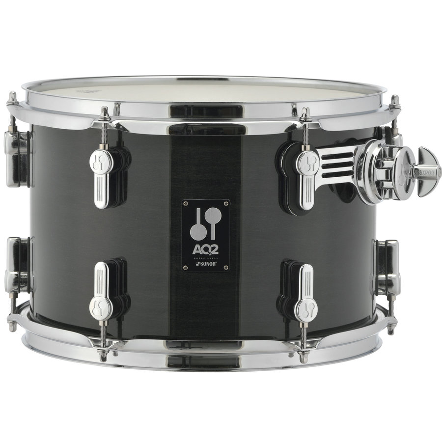 View larger image of Sonor AQ2 Studio 5-Piece Shell Pack - 20/14SD/14FT/12/10, Transparent Stain Black