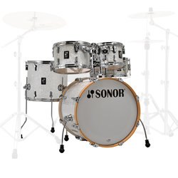 Sonor AQ2 Studio 5-Piece Shell Pack - 20/14SD/14FT/12/10, White Pearl