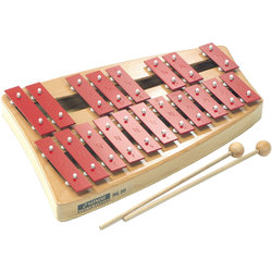 Sonor NG 30 NG Series Red Alloy Soprano Glockenspiel with Double Row