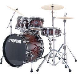Sonor Select Force Stage 3 4-Piece Drum Kit - 22/16FT/12/10, Hardware, Brown Burst