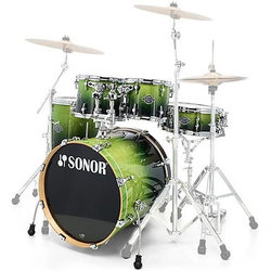Sonor Select Force Studio 5-Piece Shell Pack - 20/14SD/14FT/12/10, Green Fade