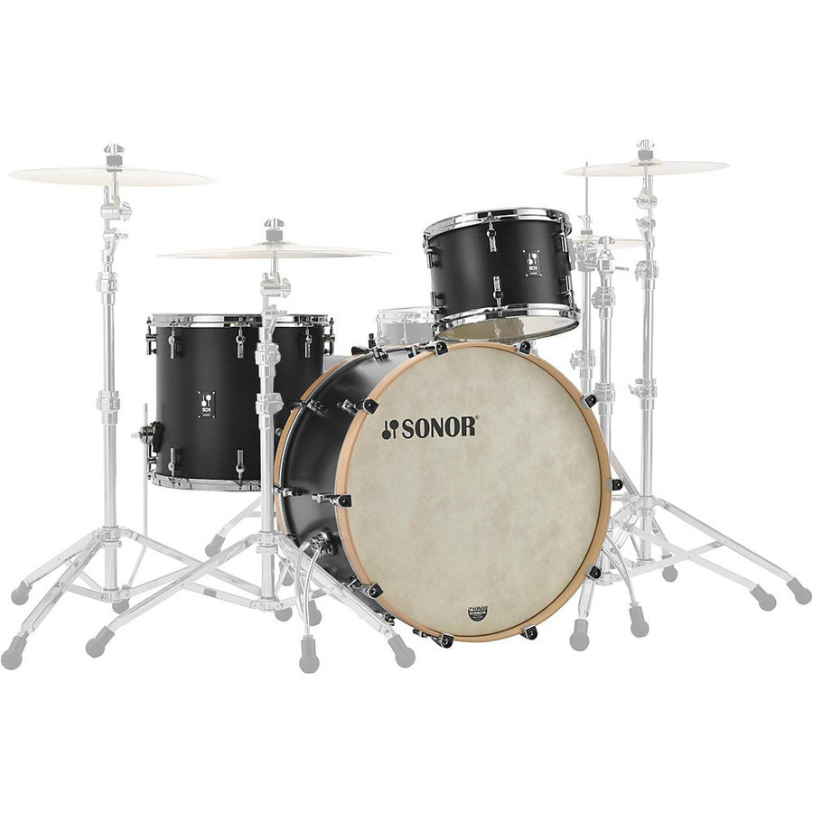 View larger image of Sonor SQ1 Series 3-Piece Shell Pack - 20/14FT/12, GT Black