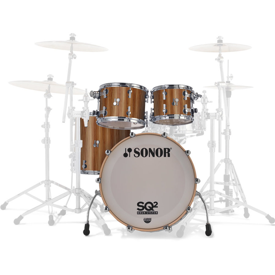 View larger image of Sonor SQ2 Select 4-Piece Shell Pack - 22/16FT/12/10, Walnut