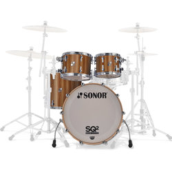 Sonor SQ2 Select 4-Piece Shell Pack - 22/16FT/12/10, Walnut