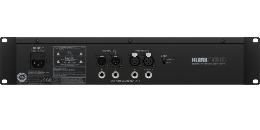 View larger image of Klark Teknik BBD-320 3rd Dimension Analog Multi-Dimensional Signal Processor with BBD Technology