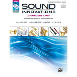 Sound Innovations for Concert Band Book 1 - Combined Percussion (Book, CD & DVD)