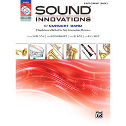 Sound Innovations for Concert Band Book 2 - Alto Clarinet (Book, CD & DVD)