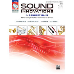 Sound Innovations for Concert Band Book 2 - Combined Percussion (Book, CD & DVD)