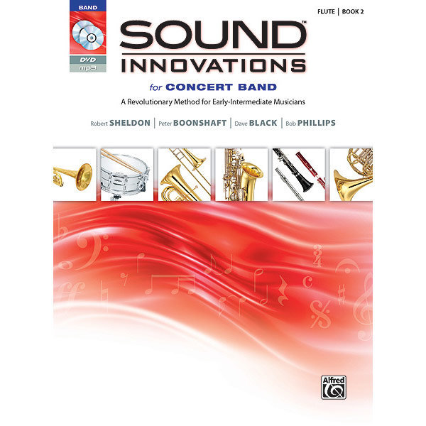 View larger image of Sound Innovations for Concert Band Book 2 - Flute (Book, CD, & DVD)