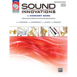 Sound Innovations for Concert Band Book 2 - Percussion: Snare Drum, Bass Drum & Accessories (Book, CD & DVD)