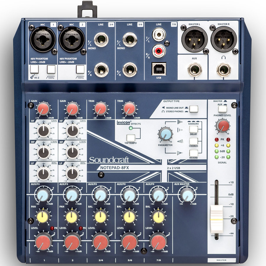 View larger image of Soundcraft Notepad-8FX Small-Format Analog Mixing Console