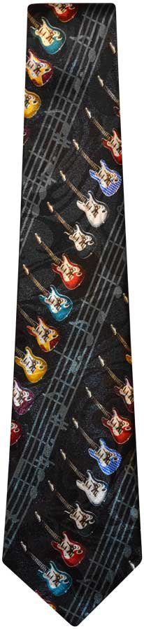 View larger image of Spiral Guitars and Staff Tie