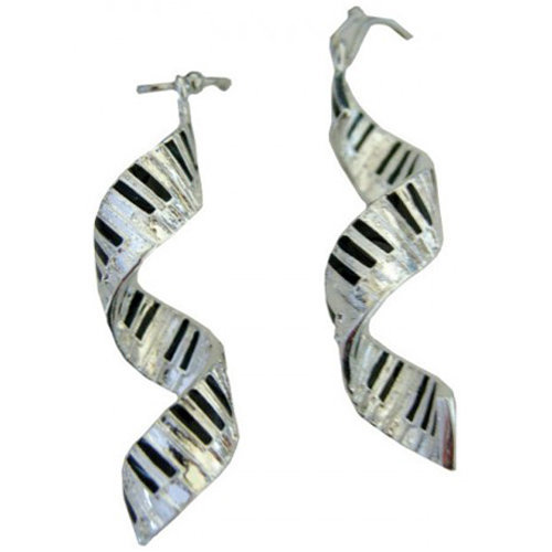 View larger image of Spiral Keyboard Earrings