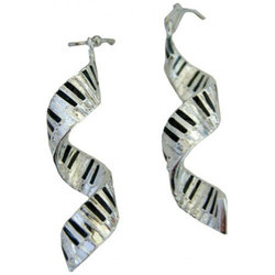Spiral Keyboard Earrings