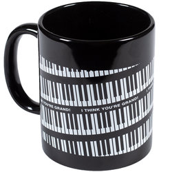 Spiraling Keyboard Mug - Black