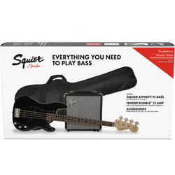 Squier Affinity Series Precision Bass PJ Pack - Laurel, Black
