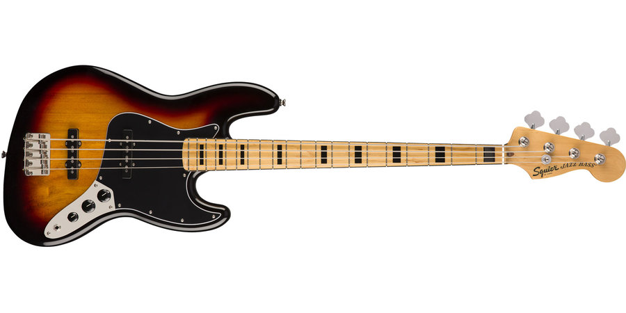 View larger image of Squier Classic Vibe '70s Jazz Bass - Maple, 3-Color Sunburst