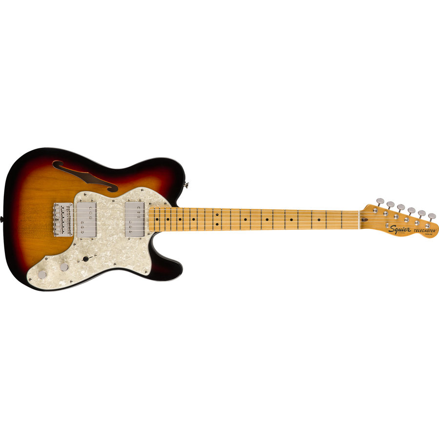 View larger image of Squier Classic Vibe '70s Telecaster Thinline - Maple, 3-Color Sunburst