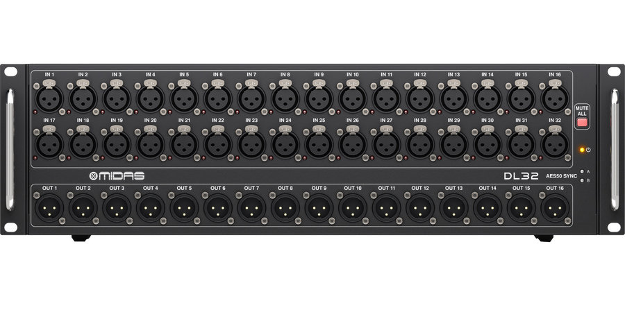 View larger image of Midas DL32 Stage Box with 32 Midas Microphone Preamp - 32 Input/16 Output
