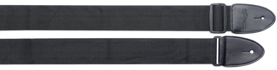 View larger image of Stagg Braided Nylon Guitar Strap - Black