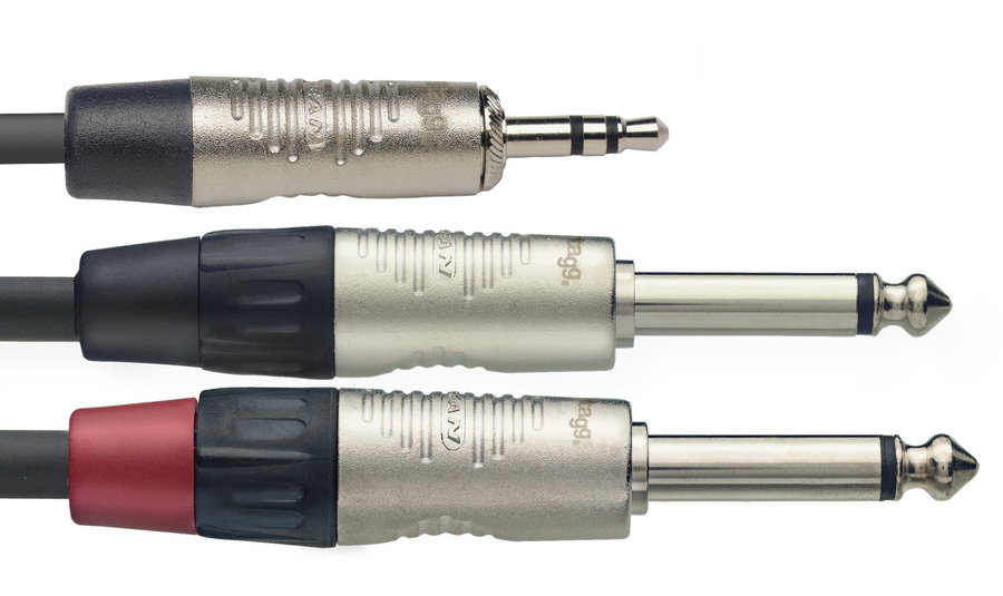 View larger image of Stagg N-Series Y-Cable - Stereo Mini Phone Plug / 2x Mono Phone Plug