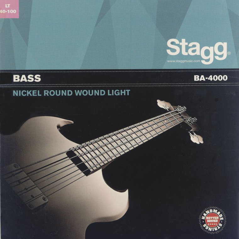 View larger image of Stagg Nickel Round Wound Electric Bass Strings - Light, 40-100